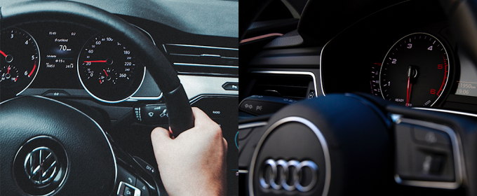 VW and AUDI steering wheels