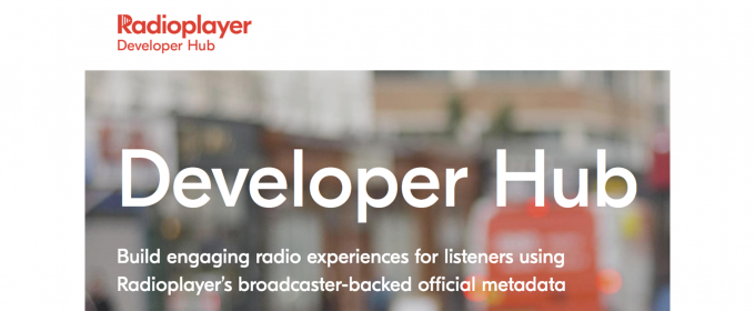 Image of Radioplayer developer hub landing page